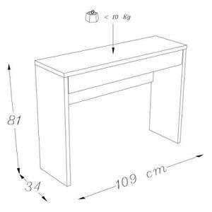 Console meuble transparente achat vente console meuble - Meuble console contemporain ...