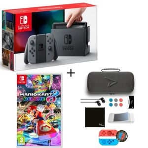 CONSOLE NINTENDO SWITCH Pack Nintendo Switch Grise + Mario Kart 8 Deluxe +