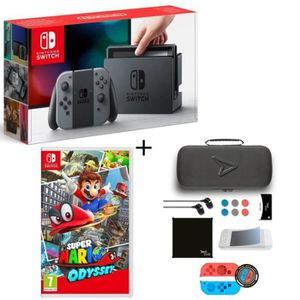 CONSOLE NINTENDO SWITCH Pack Nintendo Switch Grise + Super Mario Odyssey +