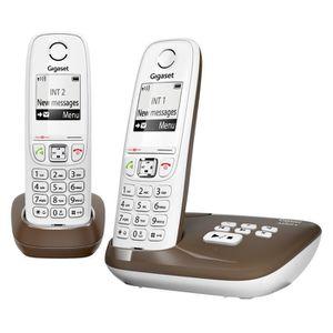 Téléphone fixe Gigaset AS405A Duo Téléphone Sans Fil Répondeur Ch