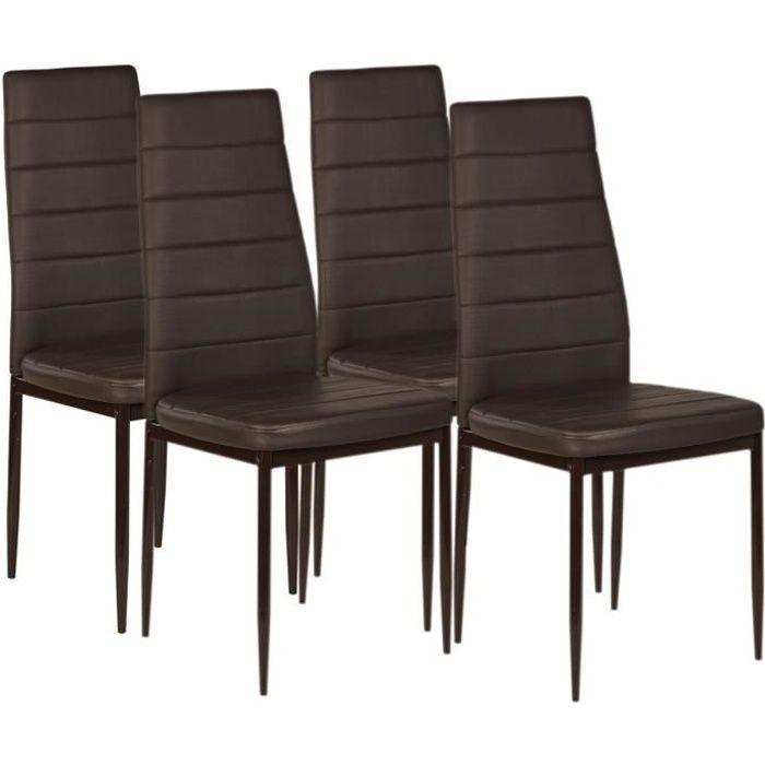 Chaises marron achat vente chaises marron pas cher - Chaise de salle a manger pas cher en belgique ...