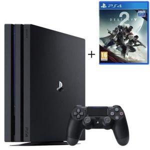 CONSOLE PS4 NOUVEAUTÉ PS4 Pro Noire 1 To + Destiny 2