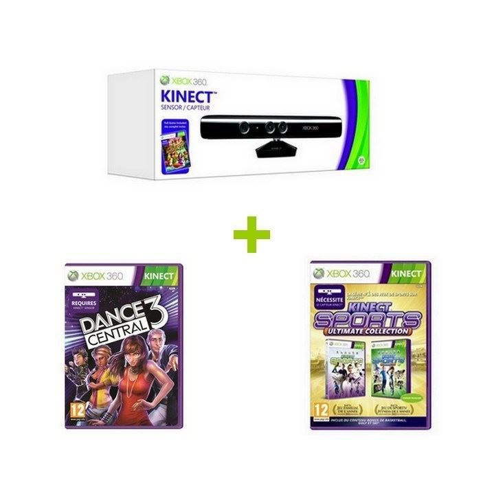 pack kinect xbox 360 achat vente pack kinect xbox 360. Black Bedroom Furniture Sets. Home Design Ideas