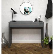 Arena console meuble style contemporain blanc brillant l 109 cm achat vente console arena - Meuble console contemporain ...