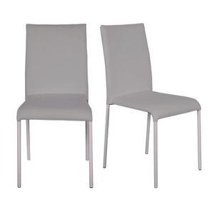 CHAISE FINLANDEK Lot de 2 chaises de salle à manger en ti