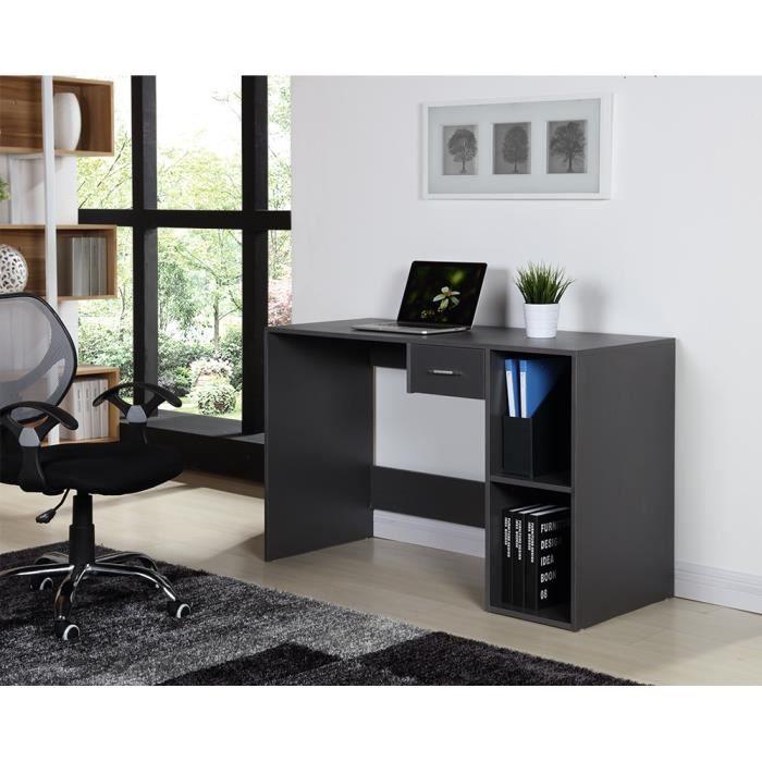 quatro bureau contemporain pvc gris l 120 cm achat. Black Bedroom Furniture Sets. Home Design Ideas