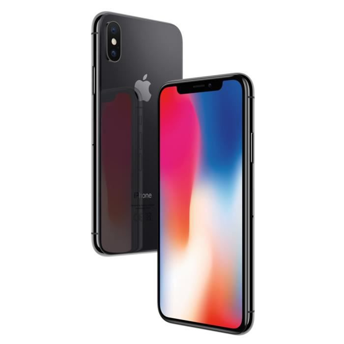 SMARTPHONE APPLE iPhoneX Gris sidéral 64Go