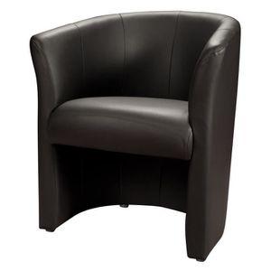 fauteuil noir achat vente fauteuil noir pas cher cdiscount. Black Bedroom Furniture Sets. Home Design Ideas
