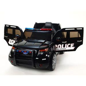 VOITURE ENFANT E-ROAD Voiture électrique Police E-Road - Noir