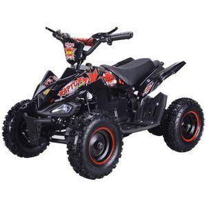 QUAD BIKEROAD Quad Electrique Raptor 800W Noir avec LED
