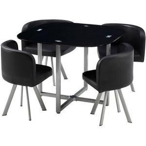 TABLE À MANGER COMPLÈTE COSMIC Ensemble table à manger de 2 à 4 personnes