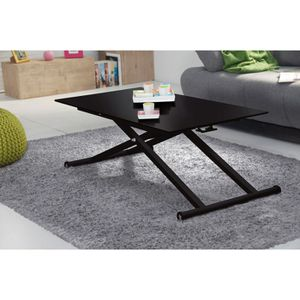 photos officielles ef432 0d1e8 NOVA Table Up&Down 110x60cm verre noir - Achat / Vente table ...