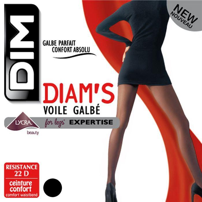 Dim Diam s Collant voile galbé Transparence confort absolu Noir 22 D ... ab1d4fd079a
