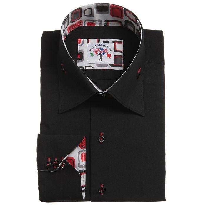 MARION ROTH Chemise Homme noir - Achat   Vente chemisier - blouse ... 4de5c3004b2