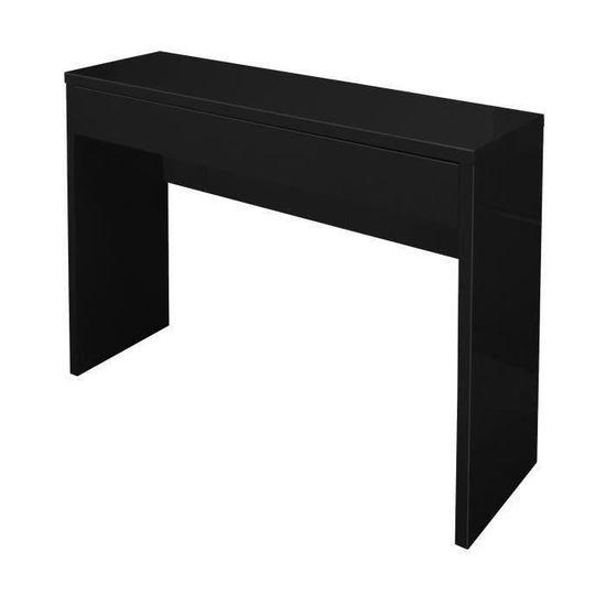 ARENA Console style contemporain noir brillant - L 109 cm - Achat   Vente  console Arena Noir Brillant - Cdiscount 0dc06a870d47