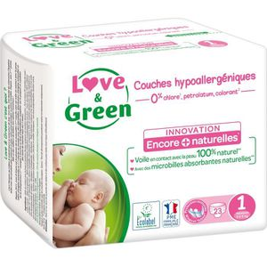 COUCHE LOVE & GREEN Couches Pack 1 Mois - Taille 1 - 230