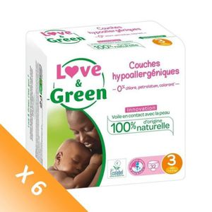 COUCHE LOVE & GREEN Couches Pack 1 Mois - Taille 3 - 192