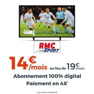 ABONNEMENT TV - VIDÉO Abonnement RMC Sport - 12 mois