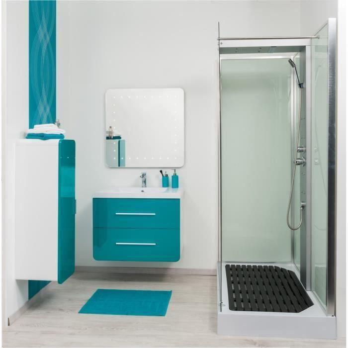 Gino colonne de salle de bain 30 cm bleu lagon et blanc for Soldes salle de bain