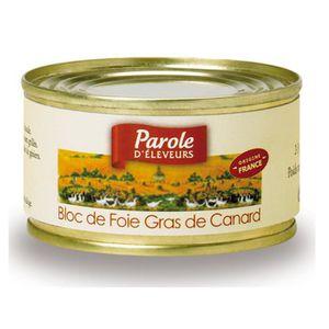 FOIE GRAS Bloc de Foie Gras 125g Parole d'éleveurs x1