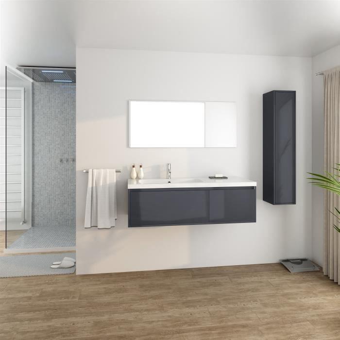 Meuble Salle De Bain 120 Cm Simple Vasque Achat Vente Pas Cher