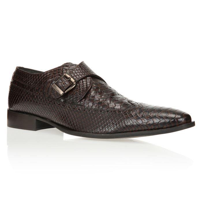 c28bdd445fd J.BRADFORD Mocassins Croco Chaussures Homme homme Marron- Achat ...