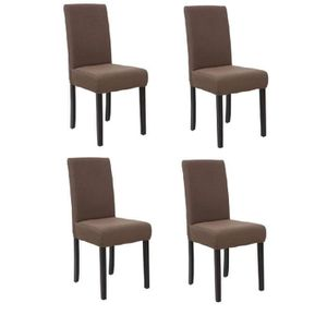 CHAISE STRIP Lot de 4 chaises de salle à manger déhoussab