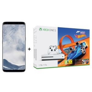 CONSOLE XBOX ONE Samsung Galaxy S8 Argent Polaire + Xbox One S 1 To