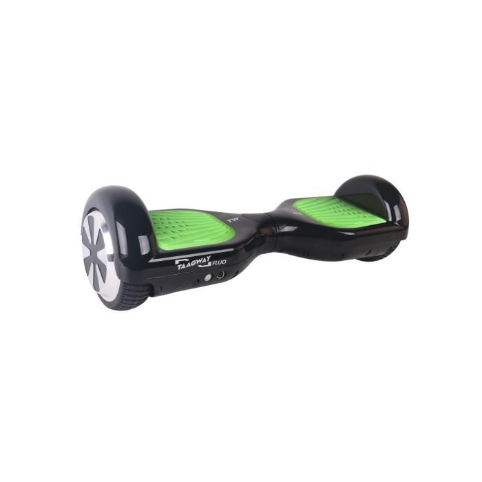 """HOVERBOARD TAAGWAY Hoverboard 6,5"""" Fluo 2 x 350 W Noir avec P"""