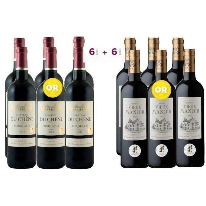 VIN ROUGE 6 Château du Chêne 2014 Bordeaux ACHETEES = 6 Chât