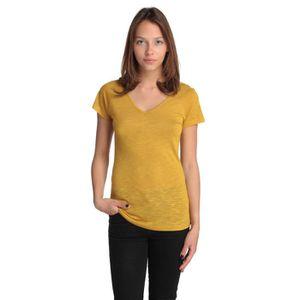 0b44c652c85 LES ESSENTIELS T-Shirt Femme Moutarde - Achat   Vente t-shirt ...