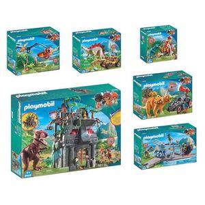 UNIVERS MINIATURE PLAYMOBIL - Gamme Dinos - Lot de 6 Boîtes