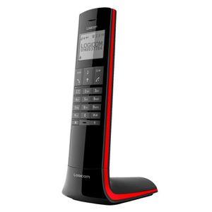 Téléphone fixe LOGICOM Luxia 150 Noir et rouge