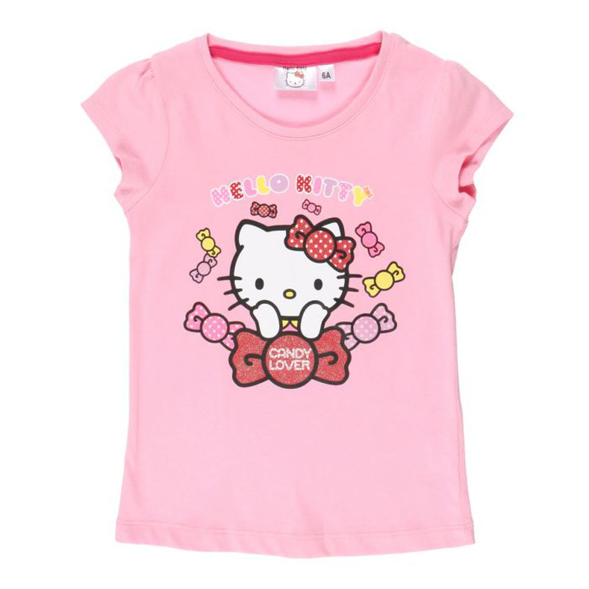 hello kitty t shirt rose enfant fille rose achat vente t shirt cdiscount. Black Bedroom Furniture Sets. Home Design Ideas