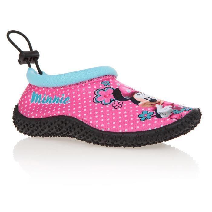 f8c53728cccc6 DISNEY MINNIE Chaussure d eau Imprimées Rose Enfant Fille Imprimé ...
