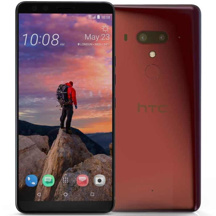 SMARTPHONE HTC U12+ - Double Sim - Dry Red Rose 64 Go