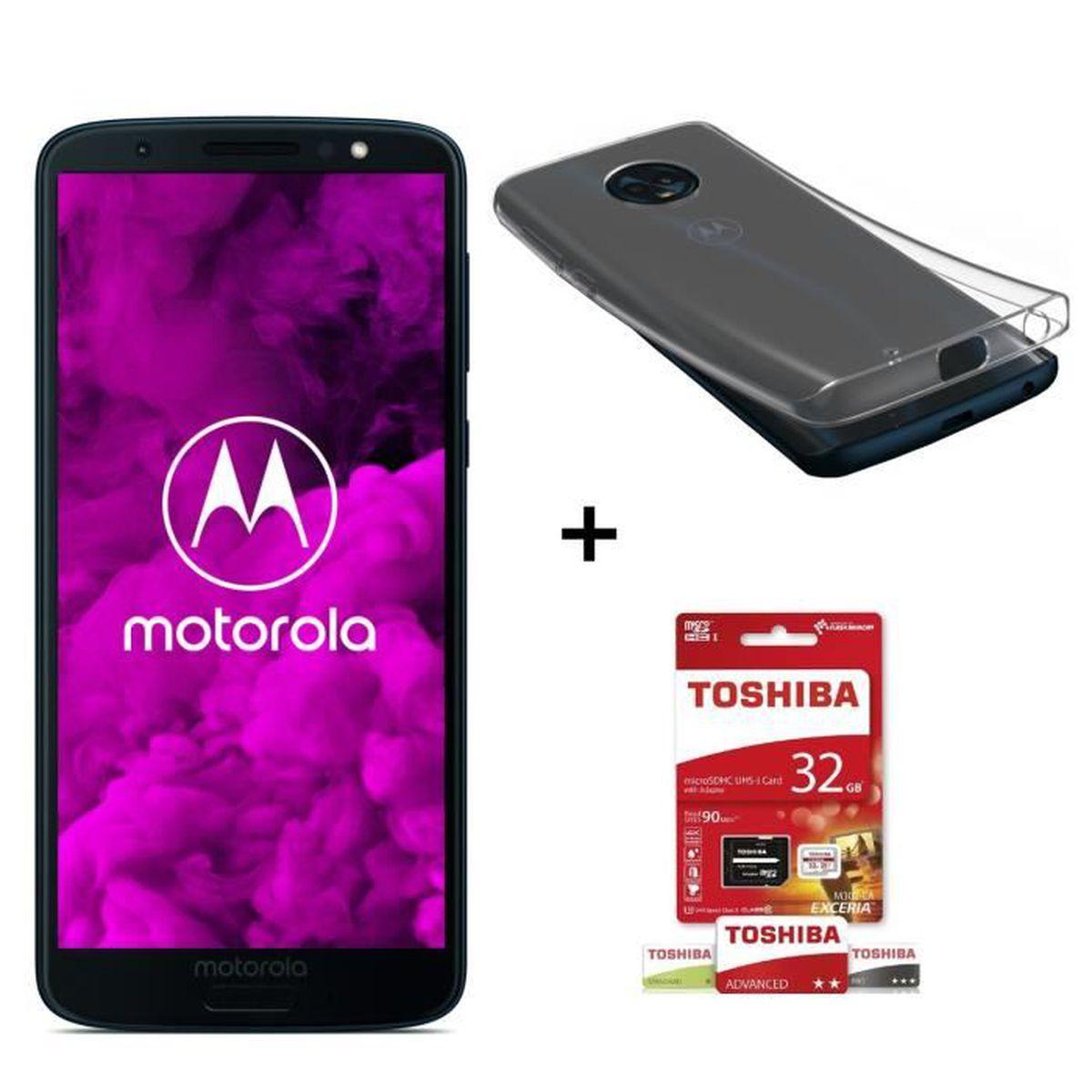 SMARTPHONE Motorola Moto G6 32 Go Bleu Indigo + Toshiba Micro