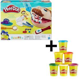 JEU DE PÂTE À MODELER PLAY-DOH - Le Dentiste + 6 Pots de pâte à modeler