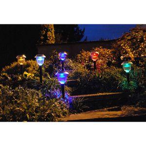 LAMPION Décoration à énergie solaire - lot de 6 lanternes
