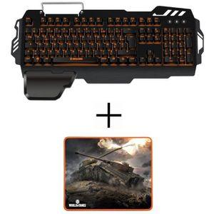 CLAVIER D'ORDINATEUR Clavier gamer K-50 S/MK + tapis de Souris Gamer MP