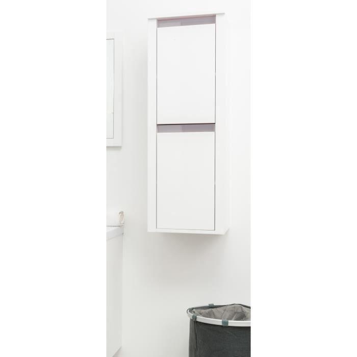 KRIS Colonne de salle de bain L 35 cm - Blanc et taupe mat - Achat ...