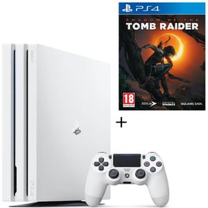 CONSOLE PS4 NOUVEAUTÉ Pack PS4 Pro 1 To Blanche + Shadow of the Tomb Rai