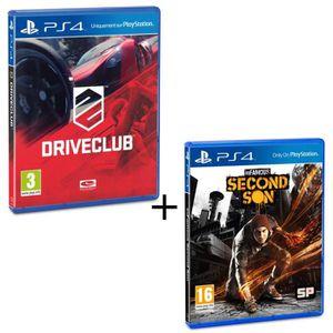 JEU PS4 Pack Drive Club + Infamous Second Son Jeux PS4