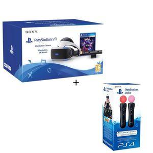 CASQUE RÉALITÉ VIRTUELLE PlayStation VR + PlayStation Caméra + VR Worlds (V