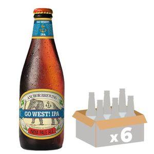 BIÈRE BRASSERIE ANCHOR Go West ! IPA - Bière Blonde - 35