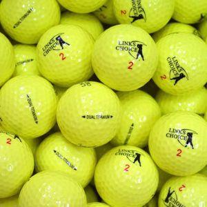 BALLE DE GOLF LINKS CHOICE Lot de 6 Balles de Golf - Jaune