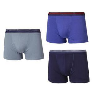 BOXER - SHORTY DIM Lot de 3 Boxers Daily Colors Automne Bleu Homm