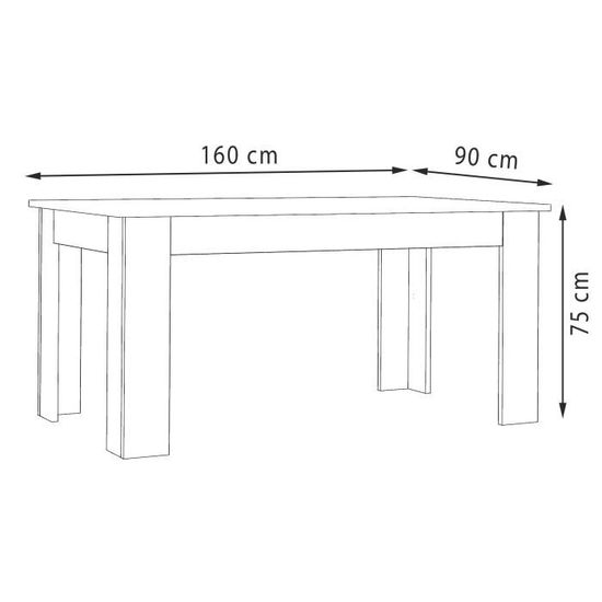 Finlandek Table à Manger Pilvi De 6 à 8 Personnes Style Contemporain