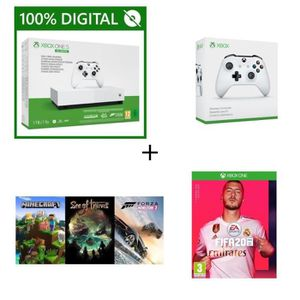 CONSOLE XBOX Xbox One S All Digital 1 To + FIFA 20 à télécharge
