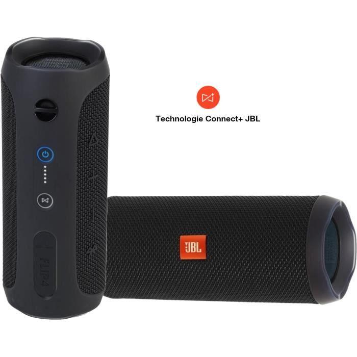Pack Son Jbl Flip 4 - 2 Enceintes Bluetooth Portable Waterproof 12 Heures D'autonomie Noir